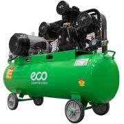 Компрессор ECO AE-1005-2 (580 л/мин, 8 атм, ременной, масляный, ресив. 100 л, 380 В, 3.00 кВт)