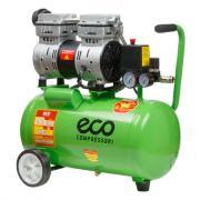 Компрессор ECO AE-25-OF1 (140 л/мин, 8 атм, коаксиальный, безмасляный, ресив. 24 л, 220 В, 0,8 кВт)