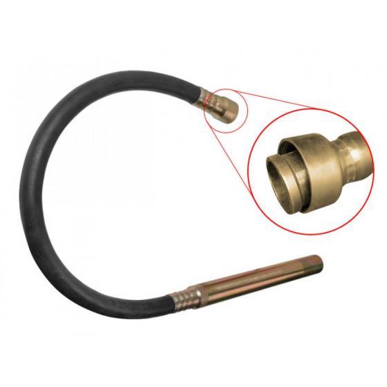 Вал гибкий 2 м в сборе с вибронаконечником 50 мм для вибратора CV 1512/CV 2012 (VR205000013) (WORTEX)