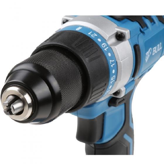 Аккум. дрель-шуруповерт BULL SR 1801 в чем. (18.0 В, 2 акк., 2.0 А/ч Li-Ion, 2 скор., 50 Нм, шурупы до 10 мм) (04010326)