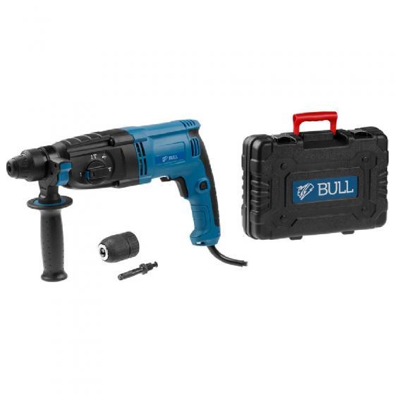 Перфоратор BULL BH 2601 в чем. (800 Вт, 2.9 Дж, 4 реж., патрон SDS-plus, БЗП в комплекте, вес 3.3 кг) (01004325)