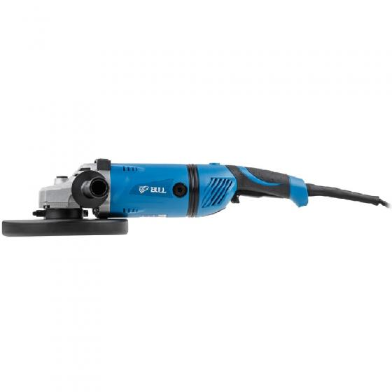 Двуручная углошлифмашина BULL WS 2302 в кор. (2200 Вт, диск 230х22 мм, пылезащита, поворотная рукоятка, фиксация кнопки, резиновый кабель 4 м) (032912