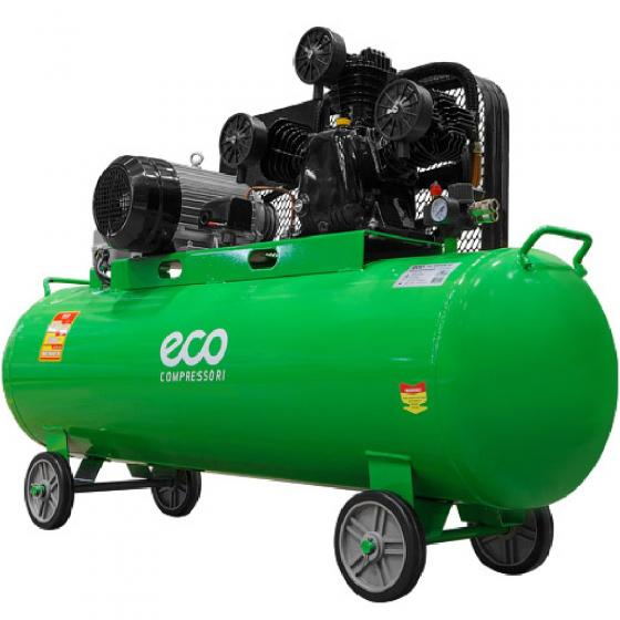 Компрессор ECO AE-2005-2 (580 л/мин, 8 атм, ременной, масляный, ресив. 200 л, 380 В, 3.00 кВт)